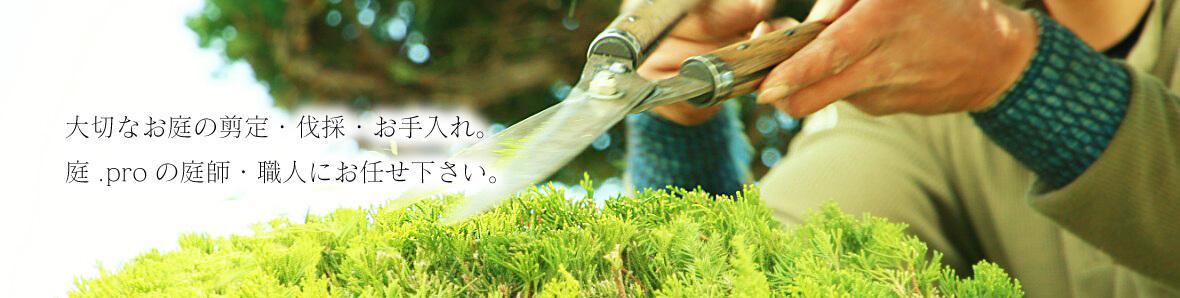 大切な庭の剪定・伐採・お手入れは、庭.proの庭師・職人にお任せ下さい。
